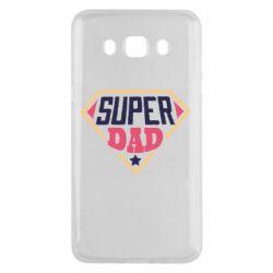 Чехол для Samsung J5 2016 Super dad text