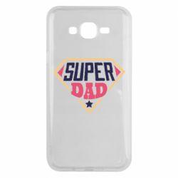 Чехол для Samsung J7 2015 Super dad text
