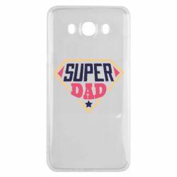 Чехол для Samsung J7 2016 Super dad text