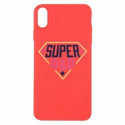Чехол для iPhone Xs Max Super dad text
