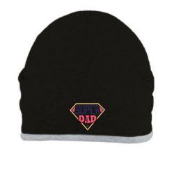 Шапка Super dad text