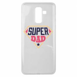 Чехол для Samsung J8 2018 Super dad text