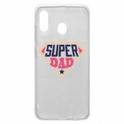 Чехол для Samsung A20 Super dad text
