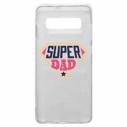 Чехол для Samsung S10+ Super dad text