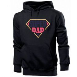 Мужская толстовка Super dad text