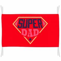 Флаг Super dad text