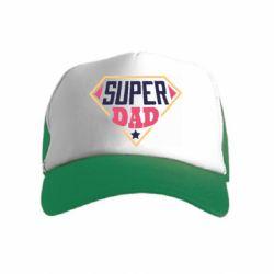 Детская кепка-тракер Super dad text