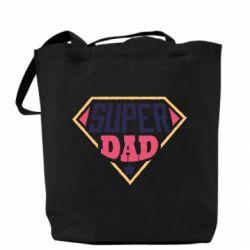 Сумка Super dad text