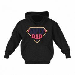 Детская толстовка Super dad text