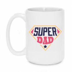 Кружка 420ml Super dad text