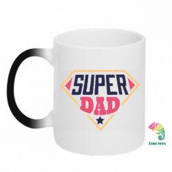 Кружка-хамелеон Super dad text