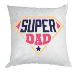 Подушка Super dad text
