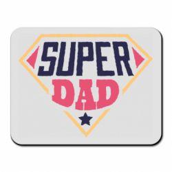 Коврик для мыши Super dad text