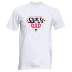 Мужская спортивная футболка Super dad text
