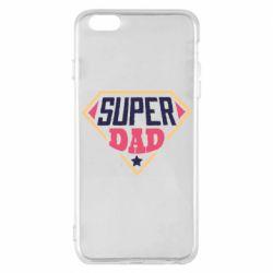 Чехол для iPhone 6 Plus/6S Plus Super dad text