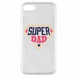 Чехол для iPhone 7 Super dad text
