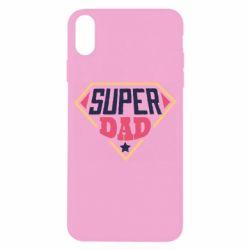 Чехол для iPhone X/Xs Super dad text