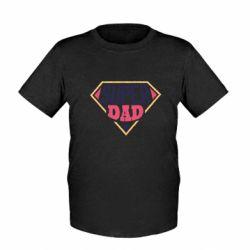 Детская футболка Super dad text