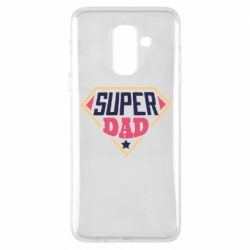 Чехол для Samsung A6+ 2018 Super dad text