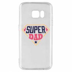 Чехол для Samsung S7 Super dad text