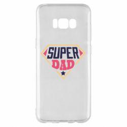 Чехол для Samsung S8+ Super dad text