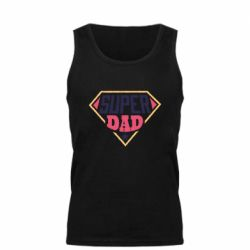 Мужская майка Super dad text
