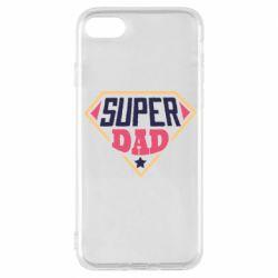 Чехол для iPhone 8 Super dad text