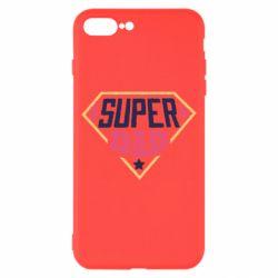 Чехол для iPhone 8 Plus Super dad text