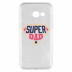 Чехол для Samsung A3 2017 Super dad text