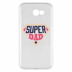 Чехол для Samsung A7 2017 Super dad text