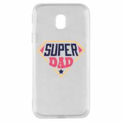 Чехол для Samsung J3 2017 Super dad text