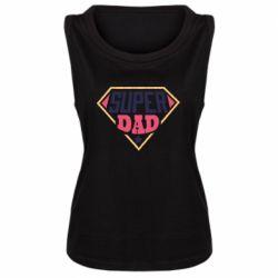 Женская майка Super dad text