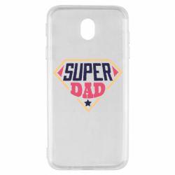 Чехол для Samsung J7 2017 Super dad text