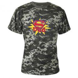 Камуфляжная футболка Super Dad - FatLine