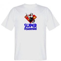 Мужская футболка Super FisherMan - FatLine
