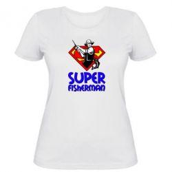 Женская футболка Super FisherMan - FatLine
