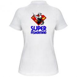 Женская футболка поло Super FisherMan - FatLine