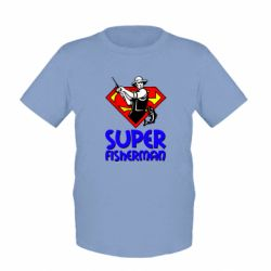 Детская футболка Super FisherMan - FatLine