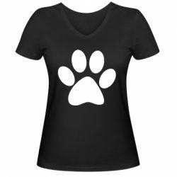 Жіноча футболка з V-подібним вирізом Супер кіт