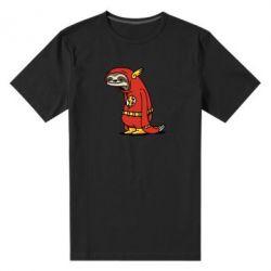 Мужская стрейчевая футболка Super lazy flash