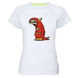 Женская спортивная футболка Super lazy flash