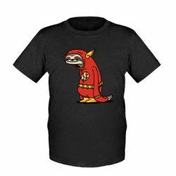 Детская футболка Super lazy flash