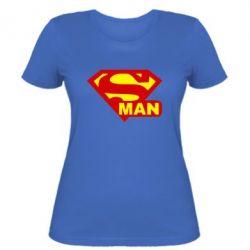 Женская футболка Super Man - FatLine