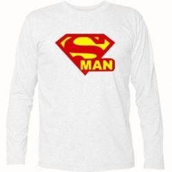 Футболка с длинным рукавом Super Man - FatLine