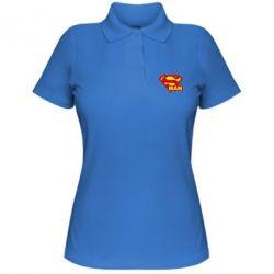 Женская футболка поло Super Man - FatLine
