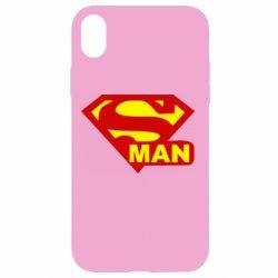 Чехол для iPhone XR Super Man