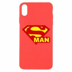 Чехол для iPhone Xs Max Super Man