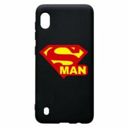 Чехол для Samsung A10 Super Man