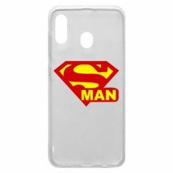 Чехол для Samsung A20 Super Man