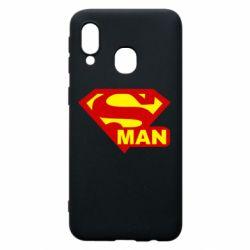 Чехол для Samsung A40 Super Man
